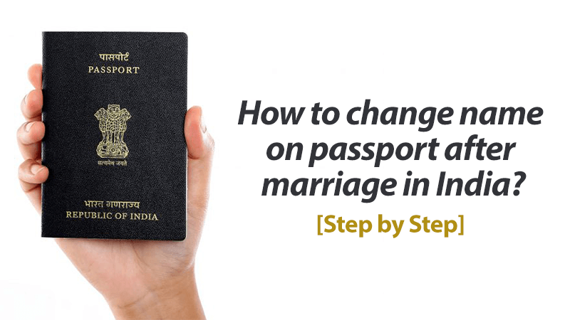 How to change name in passport after marriage