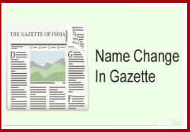 Name Change in Gazette