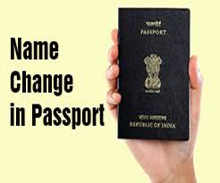Name Change In Passport