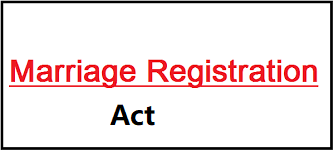 marriage registration act | special marriage act